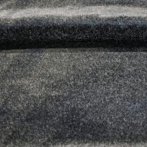 Мех мутон черный-меланж