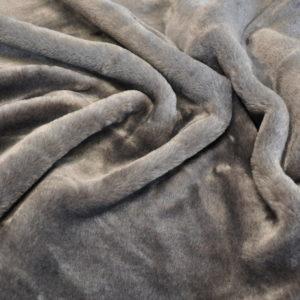 Мех мутон серый