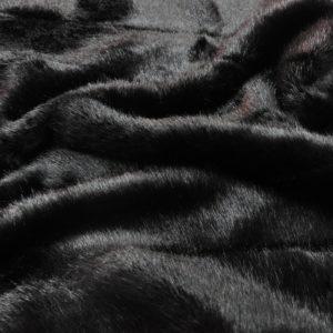 """Искусственный мех гладкокрашенный """"под норку"""" с фасонной стрижкой черный"""