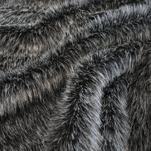 Искусственный мех длинноворсовый ГС черный меланж