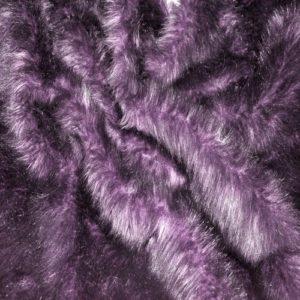 Искусственный мех длинноворсовый баклажан