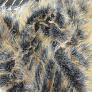 Искусственный мех длинноворсный черно-рыжий