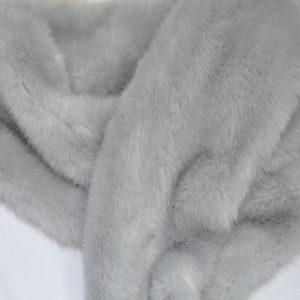 """Искусственный мех гладкокрашеный """"под норку"""" светло-серый"""