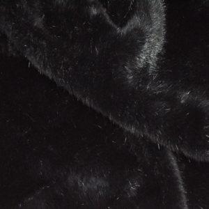"""Искусственный мех гладкокрашеный """"под норку"""" черный"""