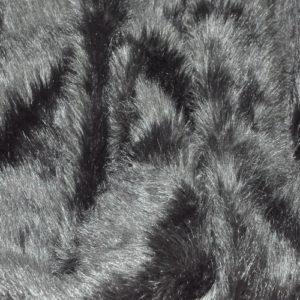 Искусственный мех длинноворсовый черный