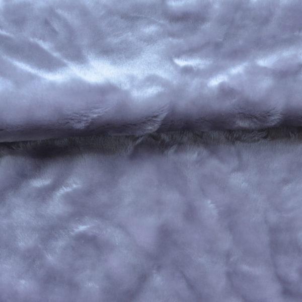 Искусственный мех серый стальной