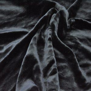 """Искусственный мех гладкокрашеный """"под мутон"""" черный"""